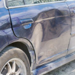 Damaged car body part